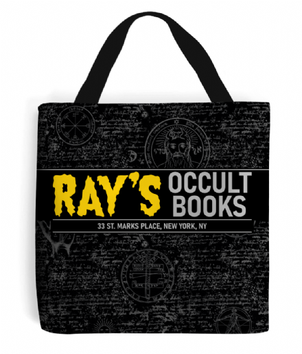Rays Occult Books Bookshop Shopping Tote Bag Based on Ghostbusters